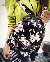 Рюкзак женский кожзам Бабочки Черный, фото 1