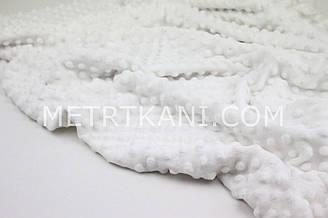 Плюш Minky белого цвета 350 г/м2 № м-51