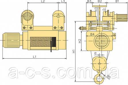 Тельфер MPM625 H9 V8 2x1N20, фото 2