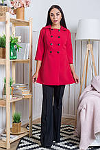 Женский кардиган-пиджак Оклахома красный(M-XL)