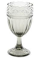 Набор стеклянных бокалов для вина 300 мл цвет-графит 6 шт.