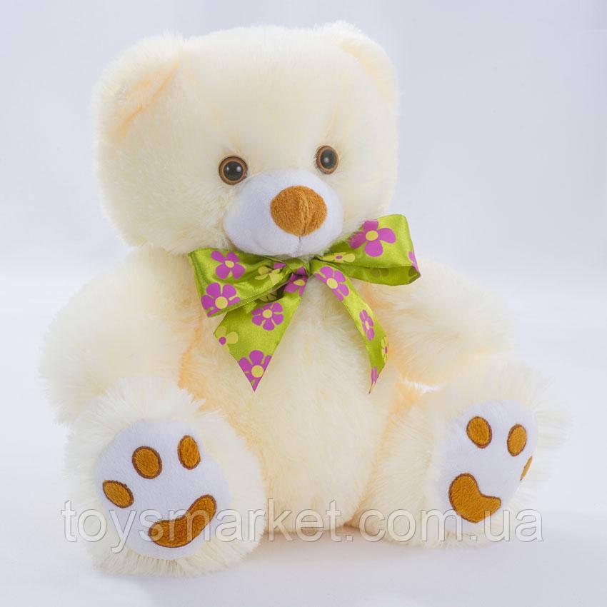 Детская мягкая игрушка, плюшевый мишка Бантик,белый