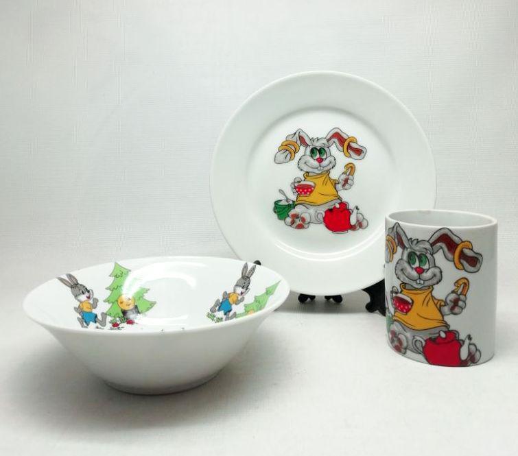 """Детский набор посуды  """"Колобок"""""""
