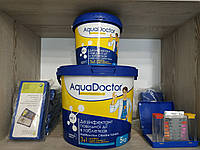 Хлор 3 в 1 для бассейна в таблетках медленнорастворимый 5 кг. стабилизированный AquaDoctor MC-T. Таблетки хлор