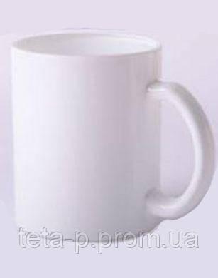 Чашка белая стеклянная под печать