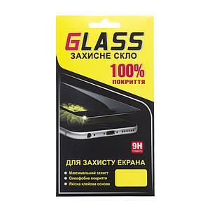 Захисне і загартоване скло GLASS для Meizu M6 з золотою рамкою