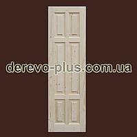 Двері з масиву дерева 60см (глухі) f_0160