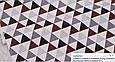 Сатин (бавовняна тканина) сірі,коричневі,чорні трикутники (ШЛЮБ точки білі через 60см), фото 2