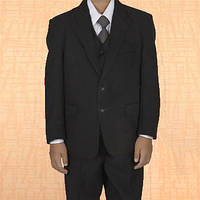 Школьная форма тройка Rodeng р.150 на 9-11 лет черный цвет, пиджак, брюки, жилет, фото 1