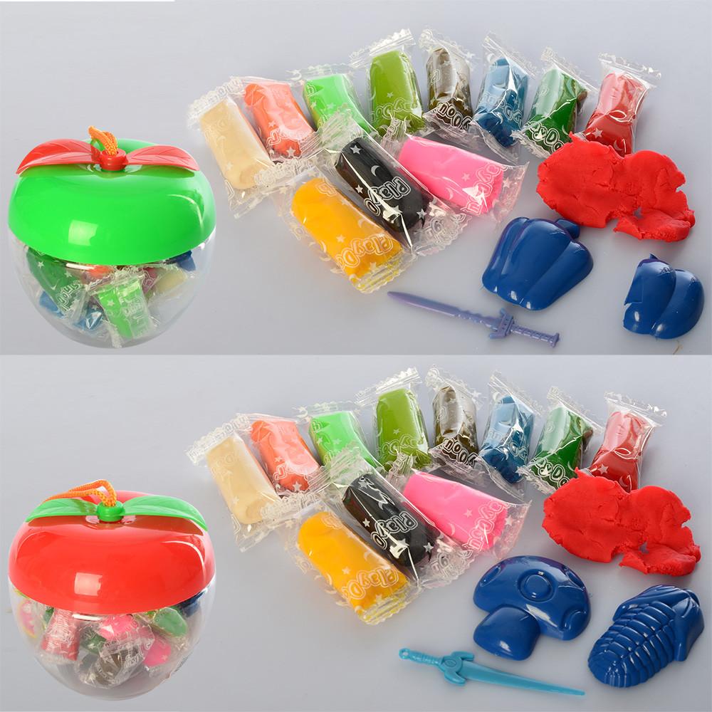 Тесто для лепки в стиках, 12 цветов, инструменты, (яблоко) 8808