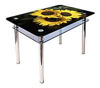 Стол обеденный стеклянный КС-1 90х60 (фотопечать №16) (Антоник ТМ)