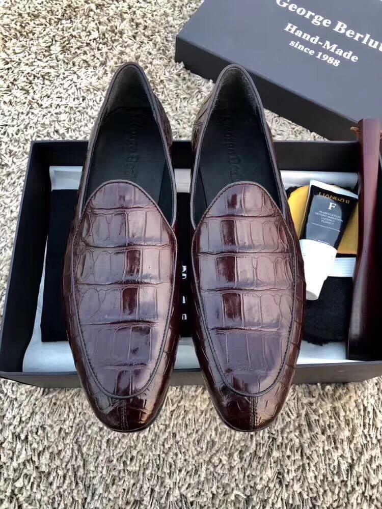 Туфли Berluti крокодил