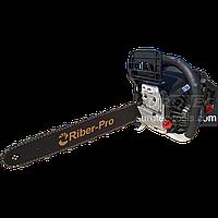 Пила цепная бензиновая Riber MZ59YS 3.4 кВт (52 см²) шина 45 см, бензопила, мотопила для дома, бензо пила