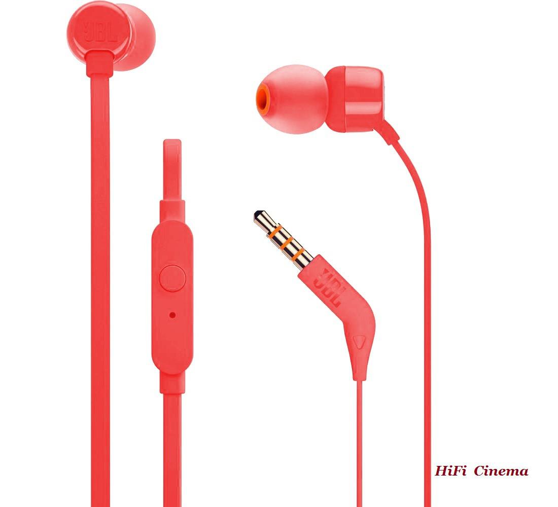 JBL T110 Red вакуумные наушники гарнитура для Android - Инсталляционная  компания