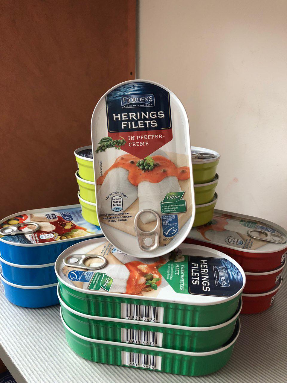 Филе сельди Fjordens Herings Filets In Pfeffer-Creme (в перечном креме) 200г