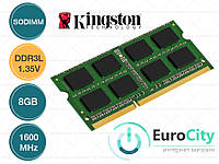 Оперативная память Kingston SODIMM DDR3L-1600 8GB PC3L-12800 1.35V (KVR16LS11/8) Модуль ОЗУ для Ноутбука.