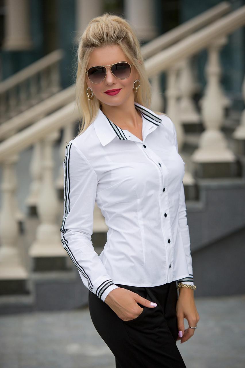 Белая Рубашка с лампасами Санда