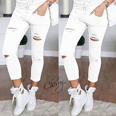 """Трендовые женские укороченные брюки-леггинсы на резинке с разрезами спереди """"Next"""" хаки, фото 3"""