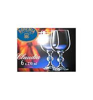 Бокал для вина Bohemia Claudia, 230 мл (уп 6 шт)