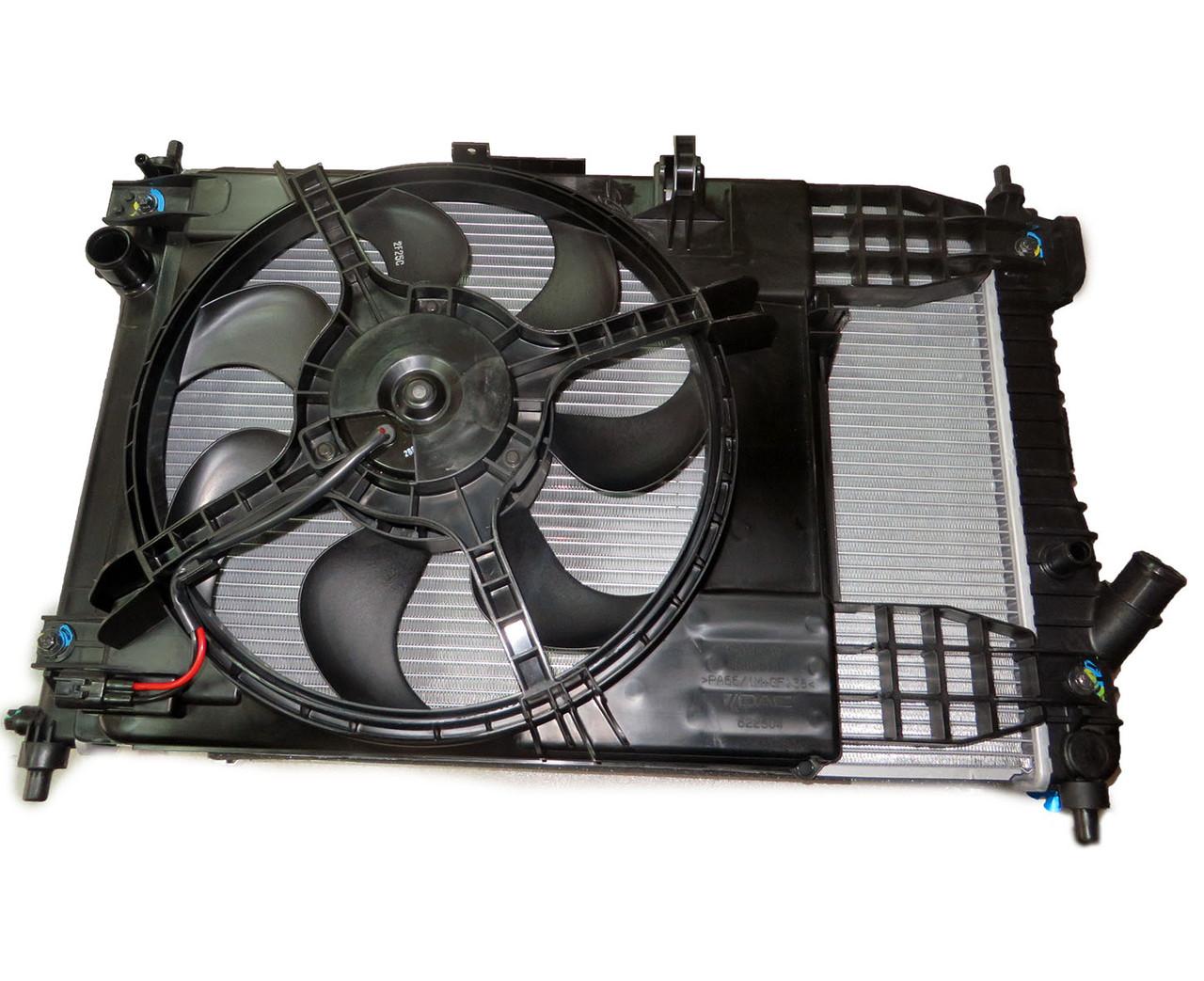 Радіатор основний, Радіатор кондиціонера, вентилятор в зборі Авео Т255 МКПП, 95227739