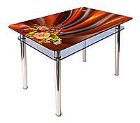 Стол обеденный стеклянный КС-1 90х60 (фотопечать №45) (Антоник ТМ)