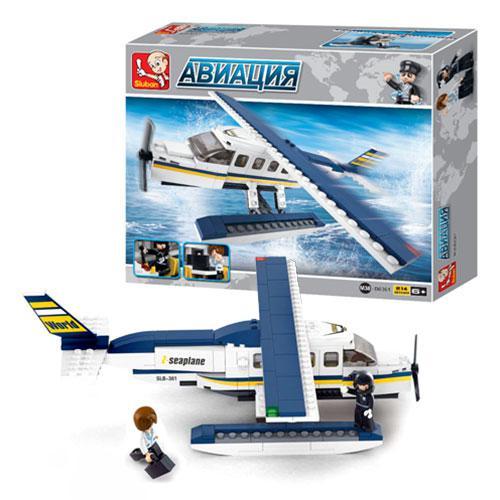 Конструктор SLUBAN M38-B0361  Авиация,самолет,фигурки,214дет,в кор-ке,