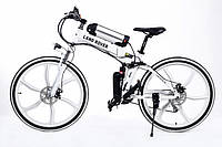 Складной велосипед экологичный на моторе LAND ROVER ELECTROBIKс литими ободами мощность 350 ВТ