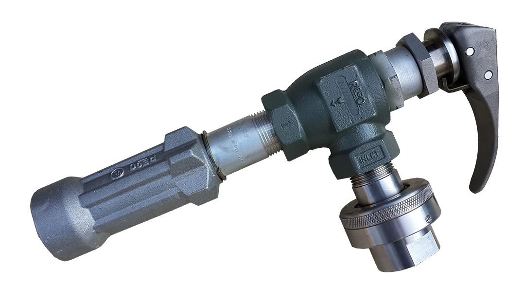 Струбцина для слива, налива газовоза Rego A7708L+7575L4+ поворотное соединение