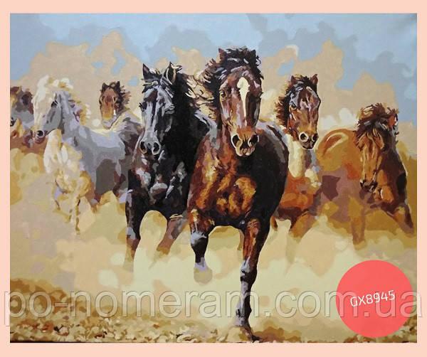 картины по номерам табун лошадей