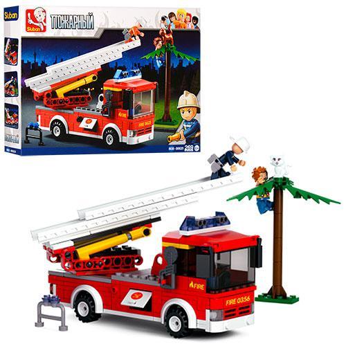 Конструктор SLUBAN M38-B0625  пожарная машина,фигурки,269дет,в кор-ке,