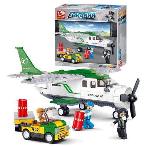 Конструктор SLUBAN M38-B0362  Авиация, самолет,машинка,фигурки,251дет,