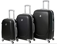 Набор чемоданов Bonro Smile 3 штуки черный (110229)