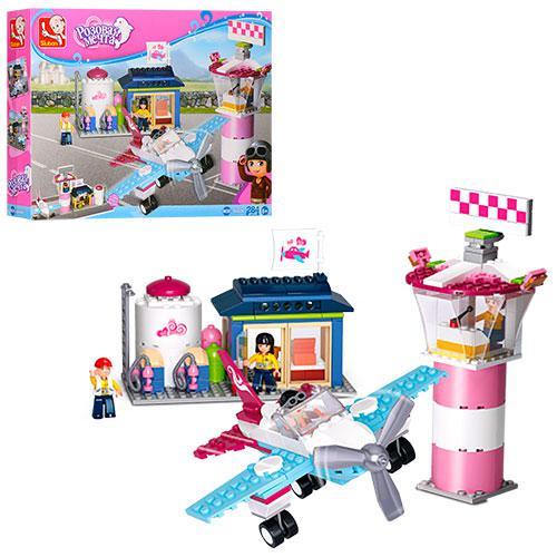 Конструктор SLUBAN M38-B0608  Розовая мечта,аэропорт,самолет,фигурки,2