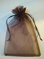 Мішечки з органзи 7х9 см, коричневий. Ціна за 1 шт. Виробництво Україна.