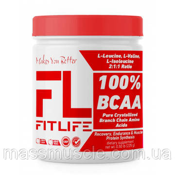 Аминокислоты FitLife 100% BCAA 225 g