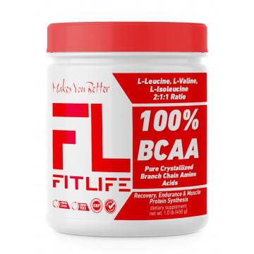 Аминокислоты FitLife 100% BCAA 450 g
