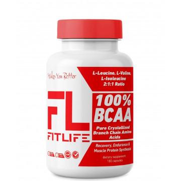 Аминокислоты FitLife 100% BCAA 180 caps
