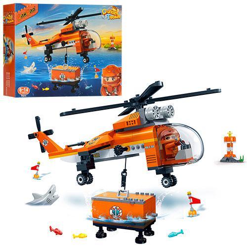 Конструктор BANBAO 7411  вертолет, фигурка, 261дет, в кор-ке, 40-30-7с