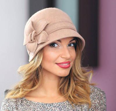 218-1 Женская фетровая шляпа Хелен Лайн