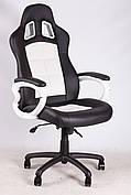 Сливаем выставочный образец! Кресло Barsky SD-03 чёрное с белым