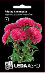 Семена астры Аполлония, 0,2 гр., красная, хризантемовидная