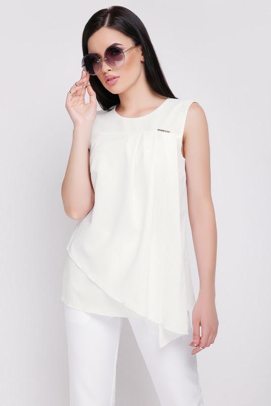 Женская блуза Hilory молоко (42-48)