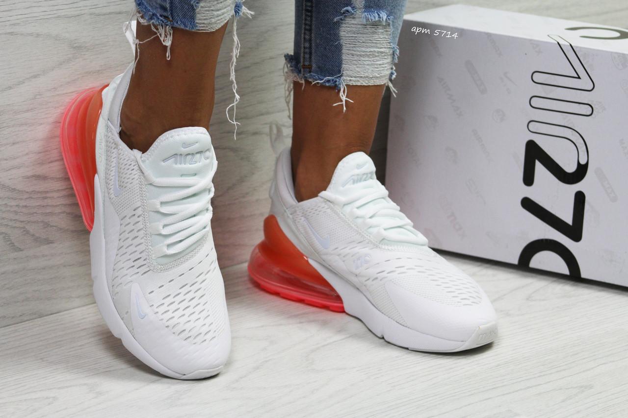 Женские стильные белые кроссовки Nike Air Max 270 (5714)  продажа ... a3a7f752fe3