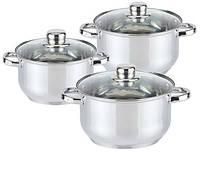 Набор Кухонной посуды, Switzner 6 предметов  , и cтеклянными крышками, фото 1