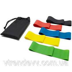 Резинки для фитнеса Latex Band Fit Simplify 5 шт в чехле