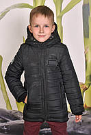 Зимняя куртка парка для мальчика на флисе