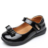 Туфли школьные для девочки, черные, лаковые, размер 30-32, ТШ 007 32(20,6см)