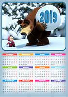 """Календарь магнитный """"Маша и медведь 01"""""""