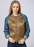 Джинсовая куртка женская с вышивкой жакет короткий джинсовый коттоновый