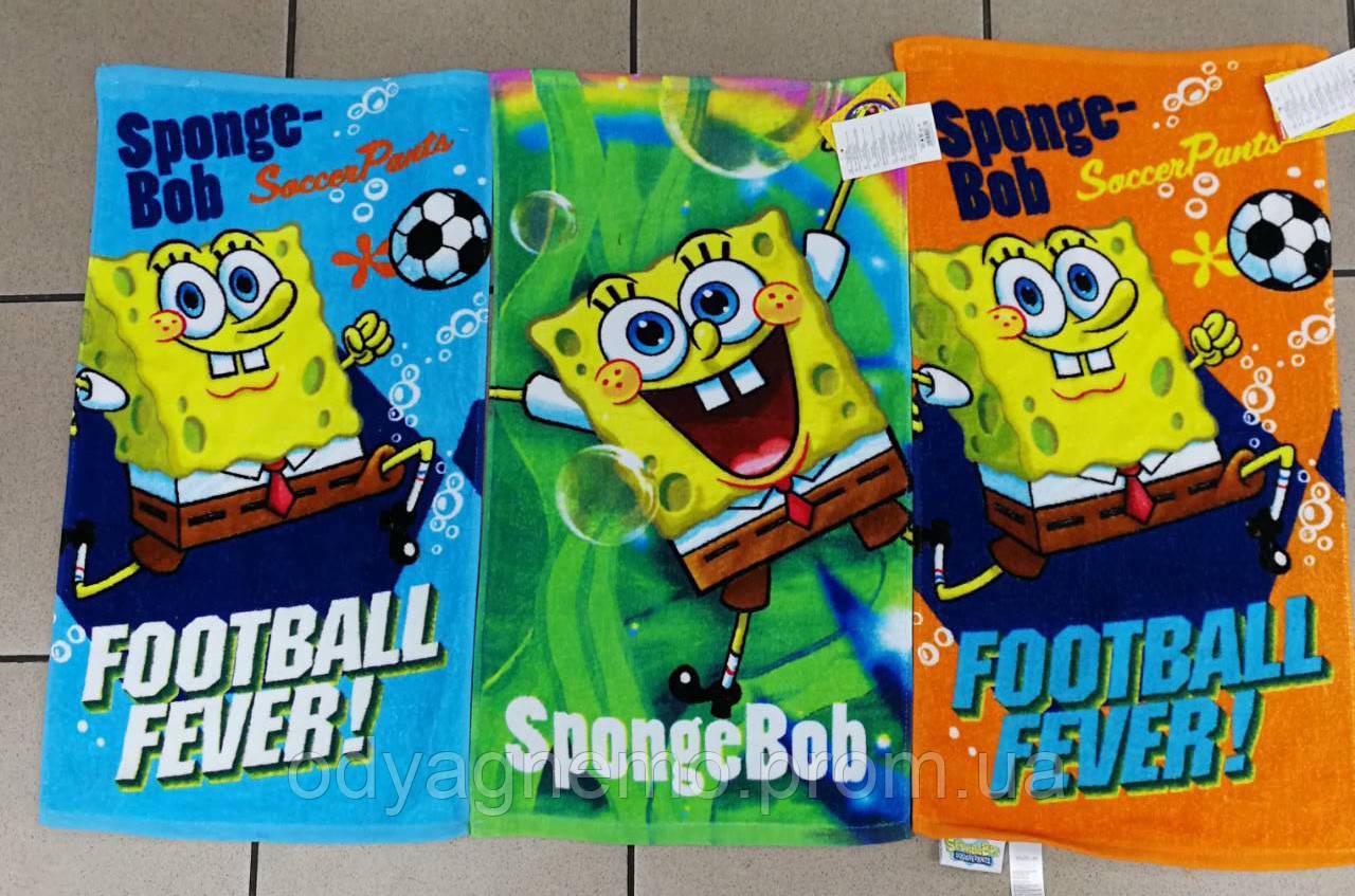 Полотенце детское SpongeBob оптом, 35*65 см.
